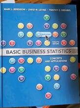 Basic Business Statistics 12th edition Berenson and Levine Turramurra Ku-ring-gai Area Preview