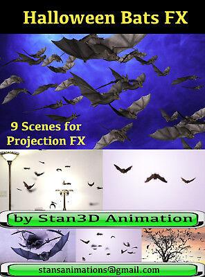 Halloween Projection Window (BATS EFFECTS HALLOWEEN WINDOW PROJECTION DVD 2016 JON)