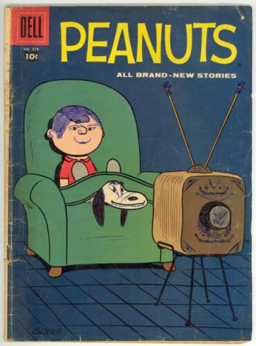 Four Color (1942) #878 1st Print Peanuts #1 Charles Schulz Cover The Trip Good-