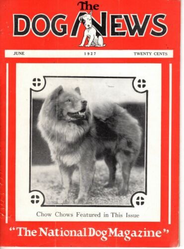 Vintage Dog News Magazine June 1927 Chow Chow Cover