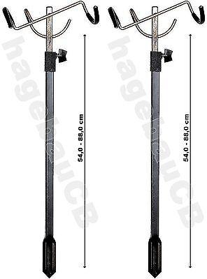 2x ZEBCO Rutenhalter Rutenständer Rutenauflage Klapprutenhalter 54-88cm 7,90€/St