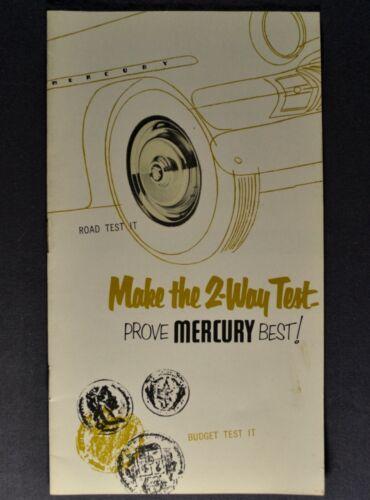 1951 Mercury Tests Brochure Monterey Sport Coupe Wagon Conv Excellent Original