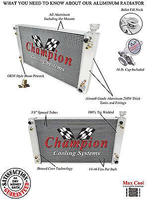 88-95 C/K Series Pickup 3 Row All Aluminum DS Radiator