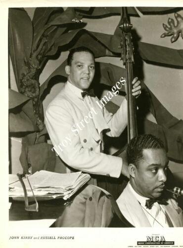 "Orig 8x10 promo photo jazz bassist & bandleader JOHN KIRBY ""Biggest Little Band"""