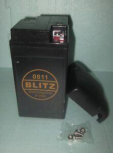 motorrad gel batterie 6 volt 12 ah wartungsfrei blitz ca. Black Bedroom Furniture Sets. Home Design Ideas