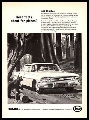 1967 ENCO Humble Touring Service General Sherman Sequoia Tree Bear Cub Print Ad