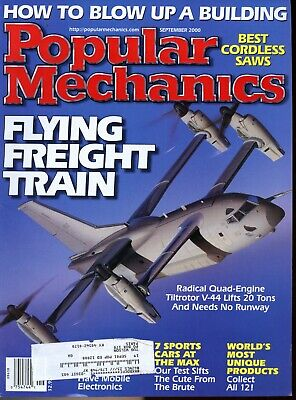 Popular Mechanics Magazine Sep 2000 Flying Freight Train, Best Cordless Saws