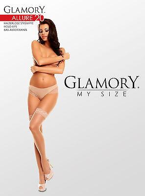 Glamory Allure 20 halterlose Strümpfe große Größen schmale kleine Spitze 50112