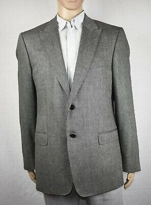 "VERSACE ""City' Collection - Gray Silk Wool Suit Jacket - US 44, EU 54"