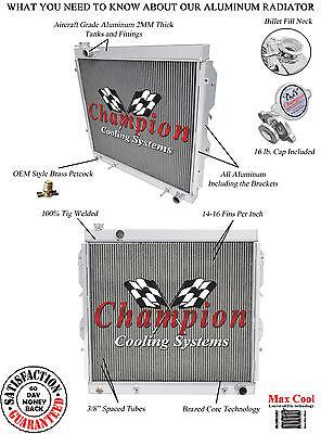 2000 01 02 03 04 05 06 Toyota Tundra 3 Row All Aluminum DR Champion Radiator