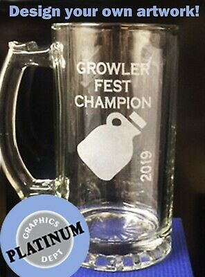 Personalized Beer (PERSONALIZED GLASS BEER MUG ENGRAVED -Bar ManCave Groom Wedding CUSTOMIZED)