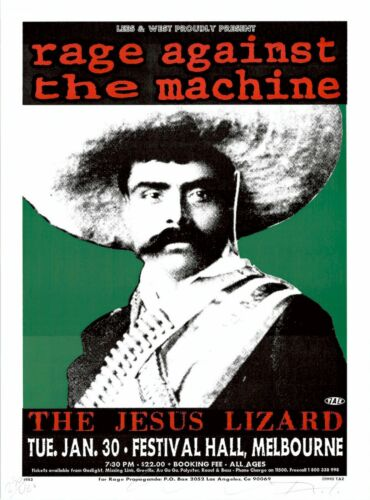 MINT & SIGNED Rage Against The Machine EMILIANO ZAPATA TAZ Poster 211/400