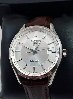 2012 Tag Heuer Carrera Calibre 5 Mens Watch Automatic WV211A Excellent Condition