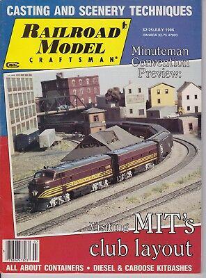 RAILROAD MODEL CRAFTSMAN  - JULY 1986 Magazine - BACK ISSUE