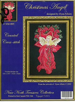 Christmas Angel Cross Stitch Pattern Leaflet Near North Treasures Dyan Allaire Dyan Allaire Cross Stitch