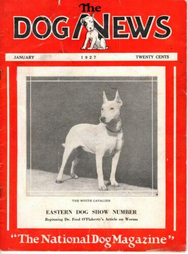 Vintage Dog News Magazine January 1927 Bull Terrier Cover