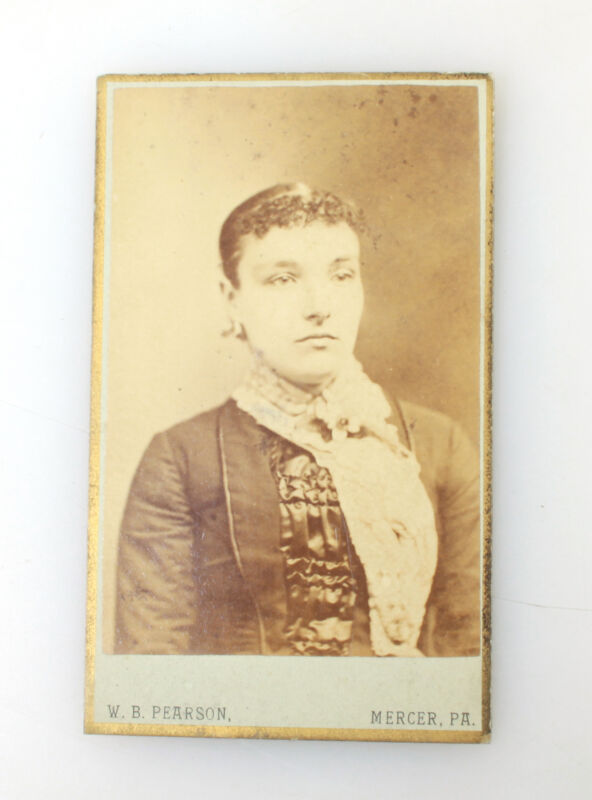 Serious Looking Woman CDV Antique Photo