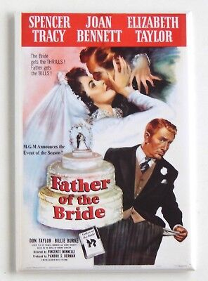 Father of the Bride (1950) FRIDGE MAGNET (2 x 3 inches) movie poster](Father Of The Bride 3)