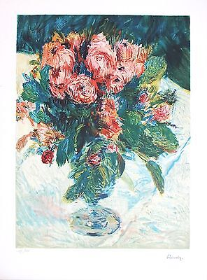Pierre Auguste Renoir Still Life (Pierre Auguste Renoir Lithograph Hand Numbered Limited Edition Still Life Roses)