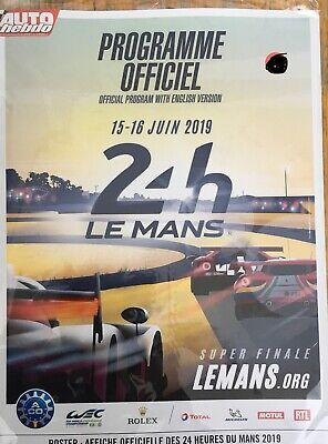Programm 24h Von Le Mans 2019 Offiziell Programm Magazine NEW!!