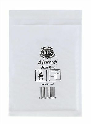 100 JL0 White 170 x 210mm  Bubble Padded JIFFY AIRKRAFT Postal Bag Envelope