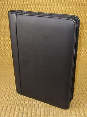 Classic Size Black Leather Franklin Covey Notepadsmartphone Holder Folio