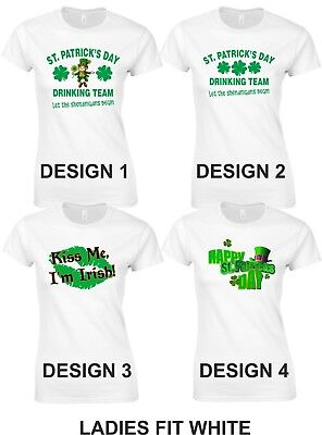 St Patrick's Day T Shirts Ladies and Unisex 17th March Drinking Team Tshirt