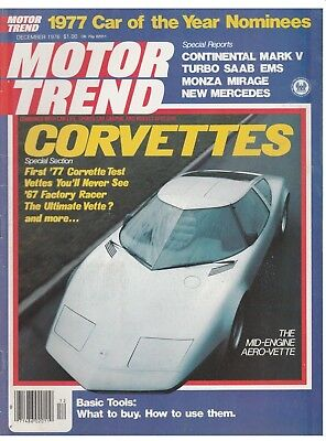 Motor Trend December 1976--excellent--loaded with road test and original car ads