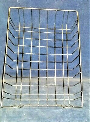 Vintage Wire Metal Desk Basket Paper Tray 10 X 14