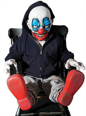 HALLOWEEN LIFE SIZE ANIMATED GIGGLES THE CLOWN EVIL  PROP DECORATION ANIMATRONIC