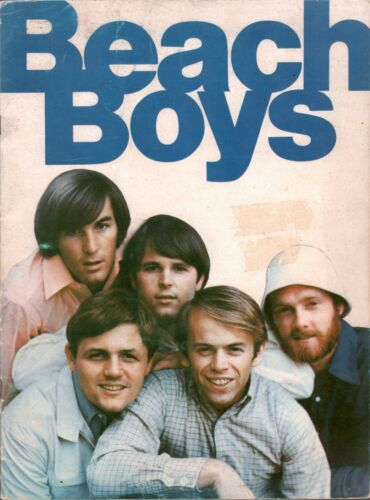 NBEACH BOYS 1966 PET SOUNDS TOUR CONCERT PROGRAM BOOK / DENNIS WILSON / VG 2 NM