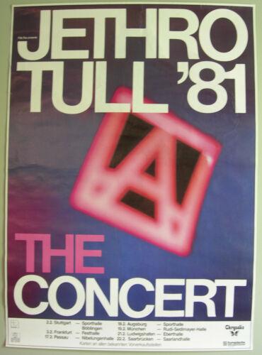 JETHRO TULL CONCERT TOUR POSTER 1981 A TOUR