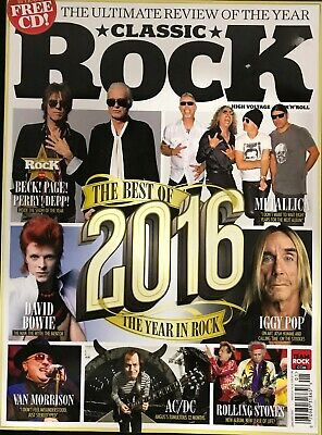 Classic Rock- January 2017 Back Issue- The Best Of 2016 In Rock