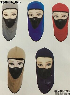 Ski Mask Face Protector Gray,Blue,Red,Brown, And Black Brand New Ships Now !!! - Red And Black Mask
