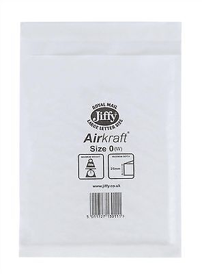 5 JL0 White 170 x 210mm Bubble Padded JIFFY AIRKRAFT Postal Bag Envelope