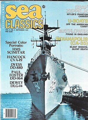 Sea Classics Sept.76 Graf Zeppelin U-boat America Coast HMS Scimitar Gladiator for sale  Shipping to South Africa