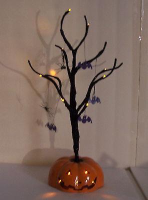 HOLIDAY INSPIRATIONS Halloween HAUNTED LIGHTED PUMKIN TREE RARE