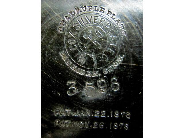 Rare Antique Repousse Victorian Quadruple Wilcox Silver Plate Cruet Set Pat 1878