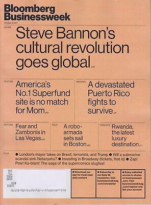 Bloomberg Businessweek Magazine October 2 2017 Steve Bannons Cultural Rev