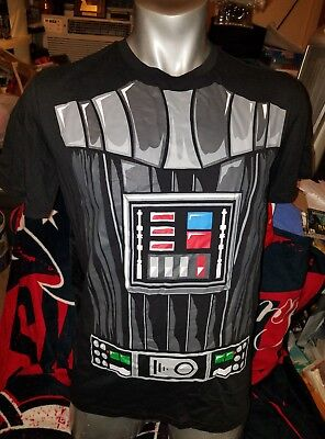 Men's Star Wars DARTH VADER Black T-Shirt with Detachable Cape [New with Tags] (Star Wars Tshirts)