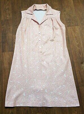 1970s Plus Size Vintage Pale Pink Smock Dress UK Size 18, Vintage Clothing