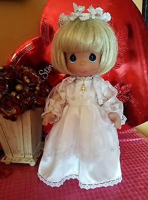 Precious Moments First Holy Communion Blonde Christina Doll Bridal Cross Gown