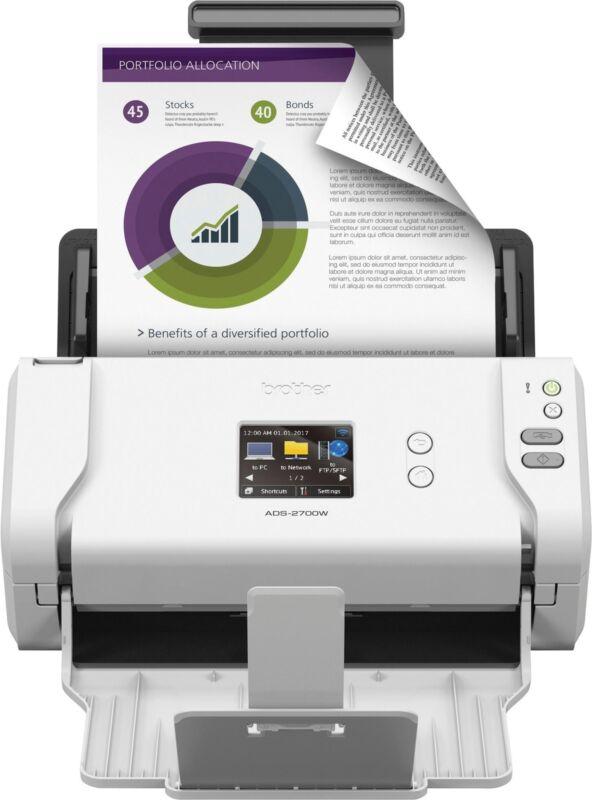 Brother - ADS-2700W Wireless High-Speed Color Duplex Desktop Document Scanner...