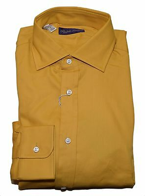 Polo Ralph Lauren Purple Label Men Cotton Dress Shirt Yellow Italy Medium