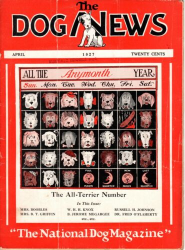 Vintage Dog News Magazine April 1927 All-Terrier Cover