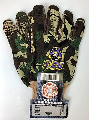 East Carolina University ECU Pirates Work Gloves Garden Gloves NCAA Licensed NWT
