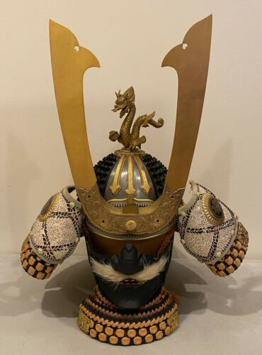 Vintage Samurai Japanese Dragon Helmet Mask Armor Once Owned by Boxer Ken Norton