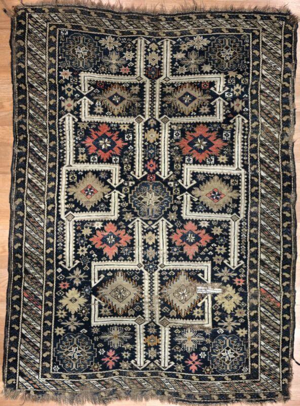 Quality Quba - 1900s Antique Caucasian Rug - Tribal Kazak Carpet - 3.10 X 5.3 Ft