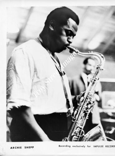 Orig promo photo #1 jazz tenor saxophonist ARCHIE SHEPP, mid/late 1960s
