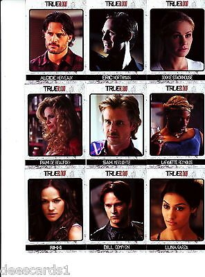 TRUE BLOOD ARCHIVES 72 CARD BASE TRADING CARD SET (72) 2013 PLUS